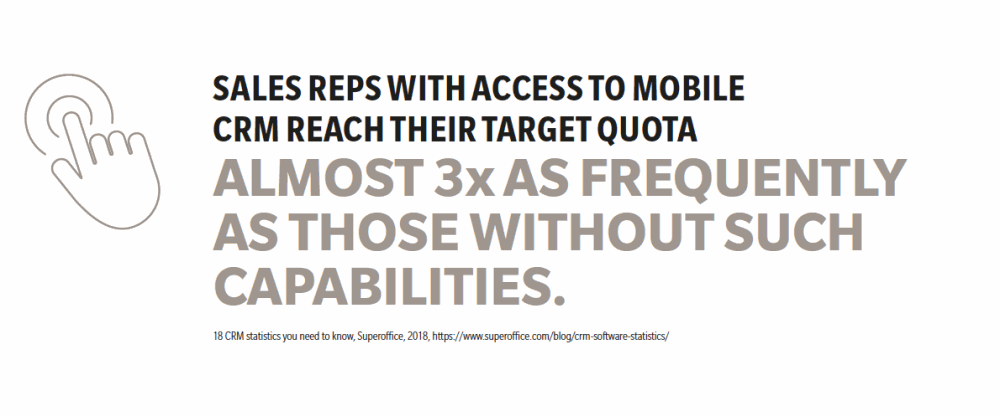 sales reps with access to mobile