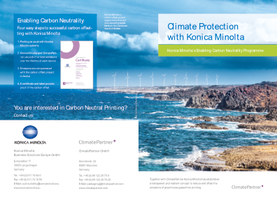 climate protection with Konica Minolta
