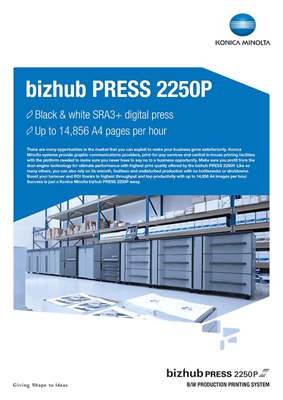 bizhub PRESS 2250P datasheet thumbnail