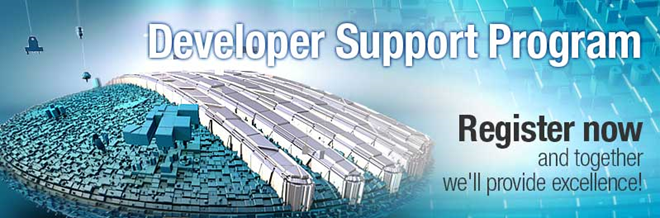 Developer Support Programm register banner