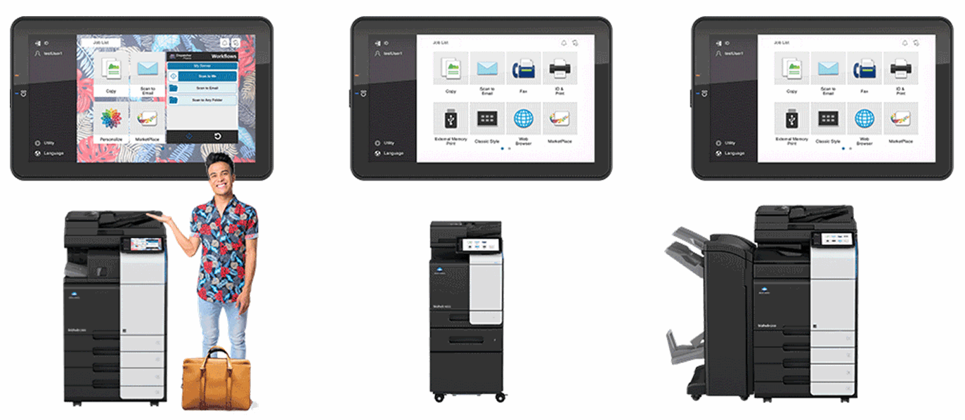 Konica Minolta Personalize multiple users