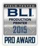 BLI Production Printer 2015 Badge