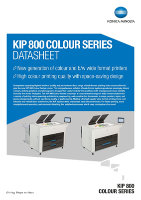 Kip 850 Wide Format Printer Konica Minolta